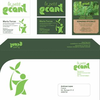 logo design, branding and graphic style for Geant company