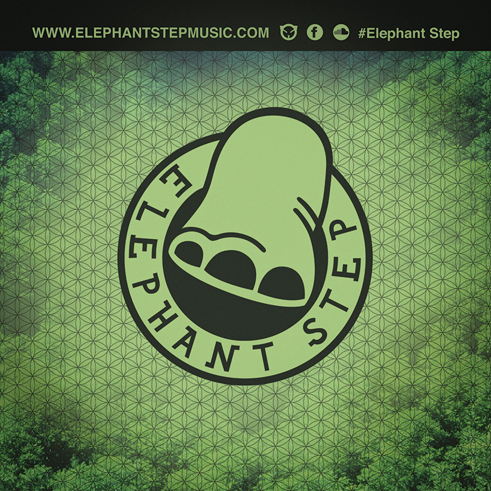 logo design and branding for music brand Elephant Step