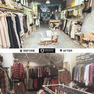 before and after shop design and renovation in Barcelona