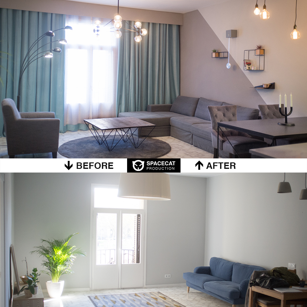 before and after apartment design and renovation