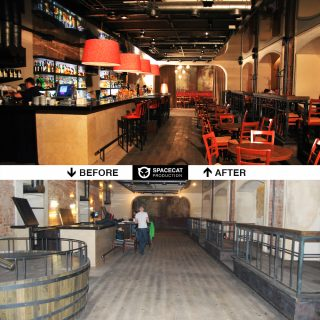 before and after club renovation in Moscow