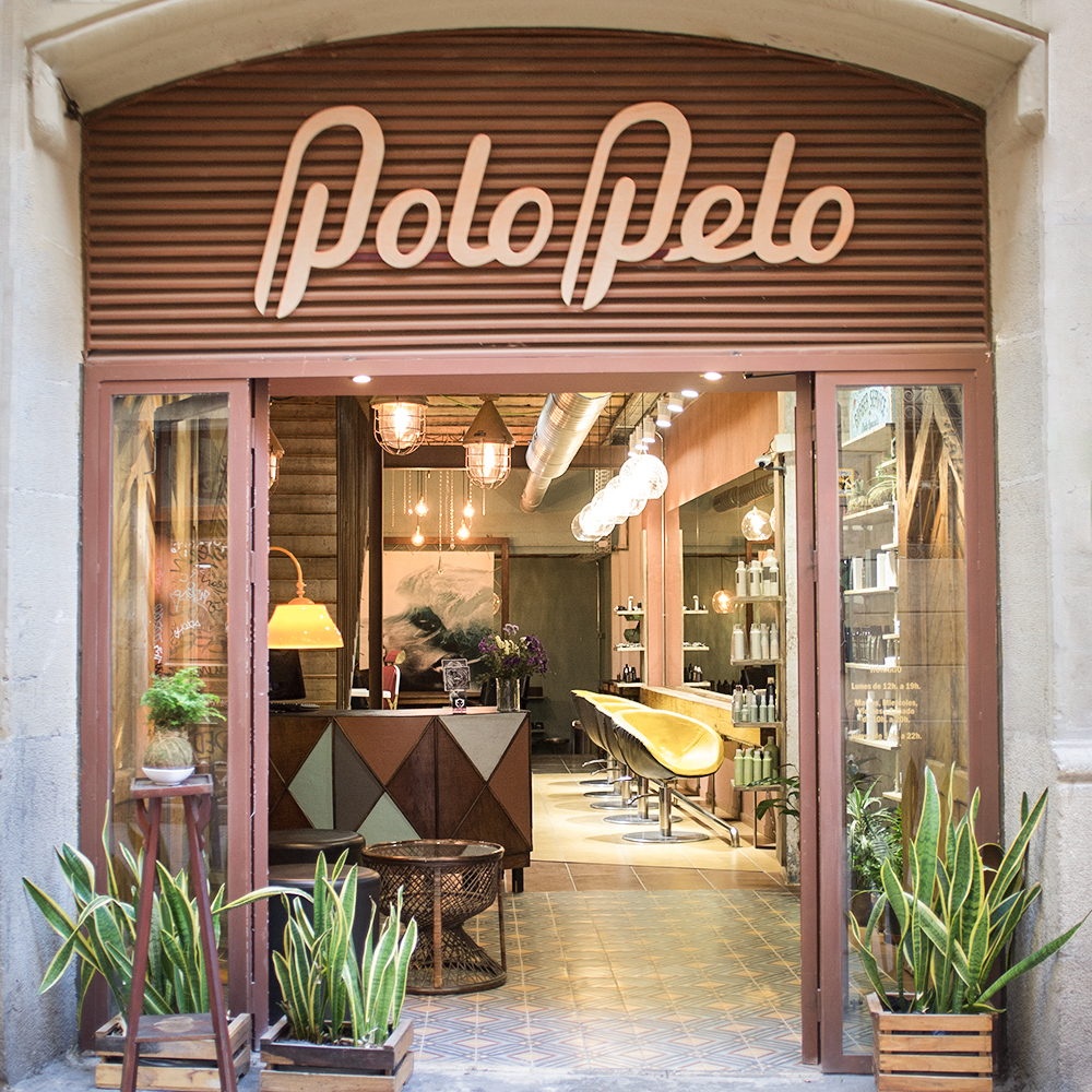 logo design, shop window and interior design for beauty salon PoloPelo