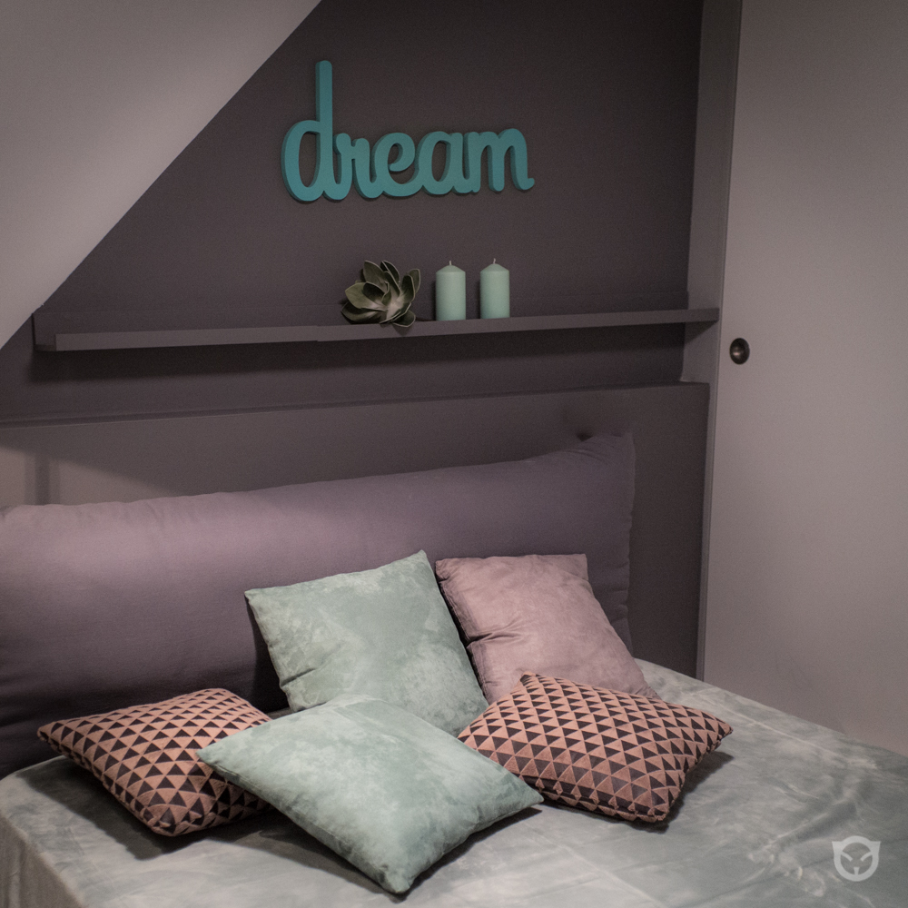 bedroom interior design and wall painting