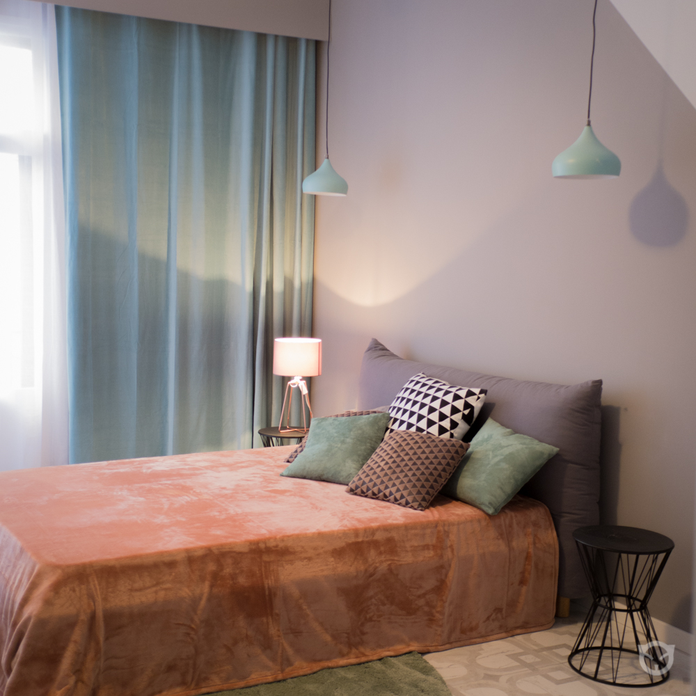 bedroom interior design, home staging by ALLY