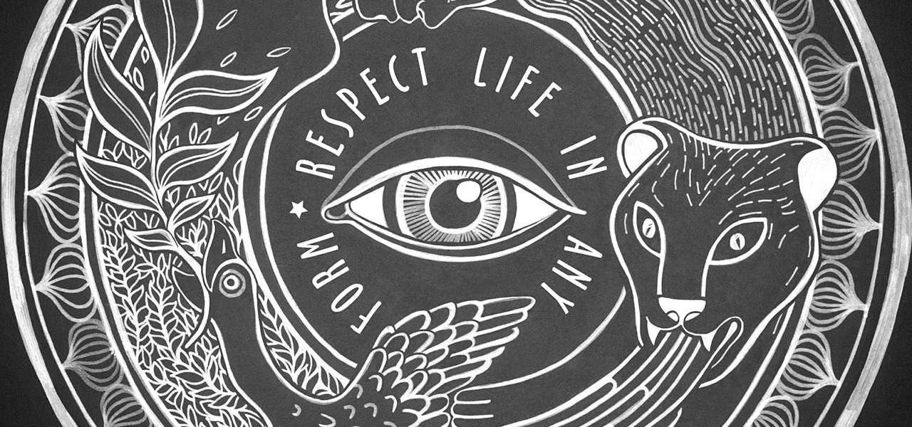 respect life in any form original art by artist @ally.space.cat