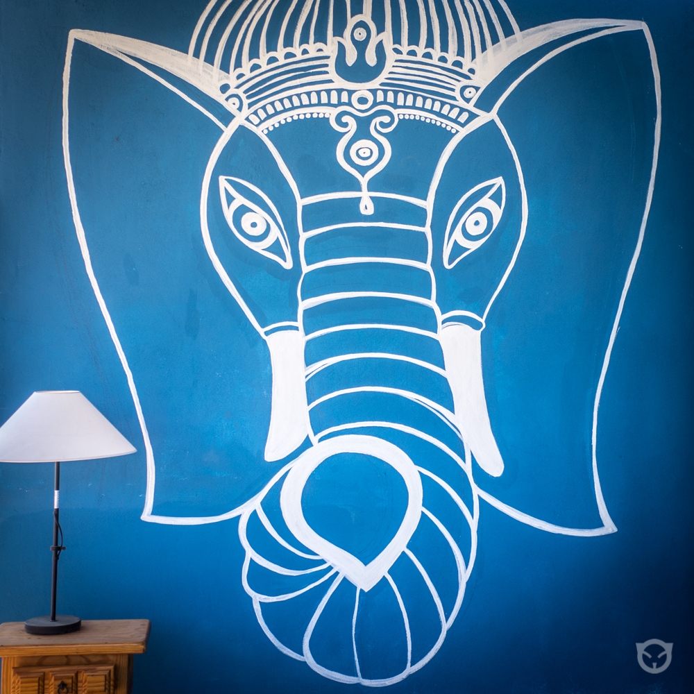 Ganesha. Buddha art. Original wall painting art by artist @ally.space.cat