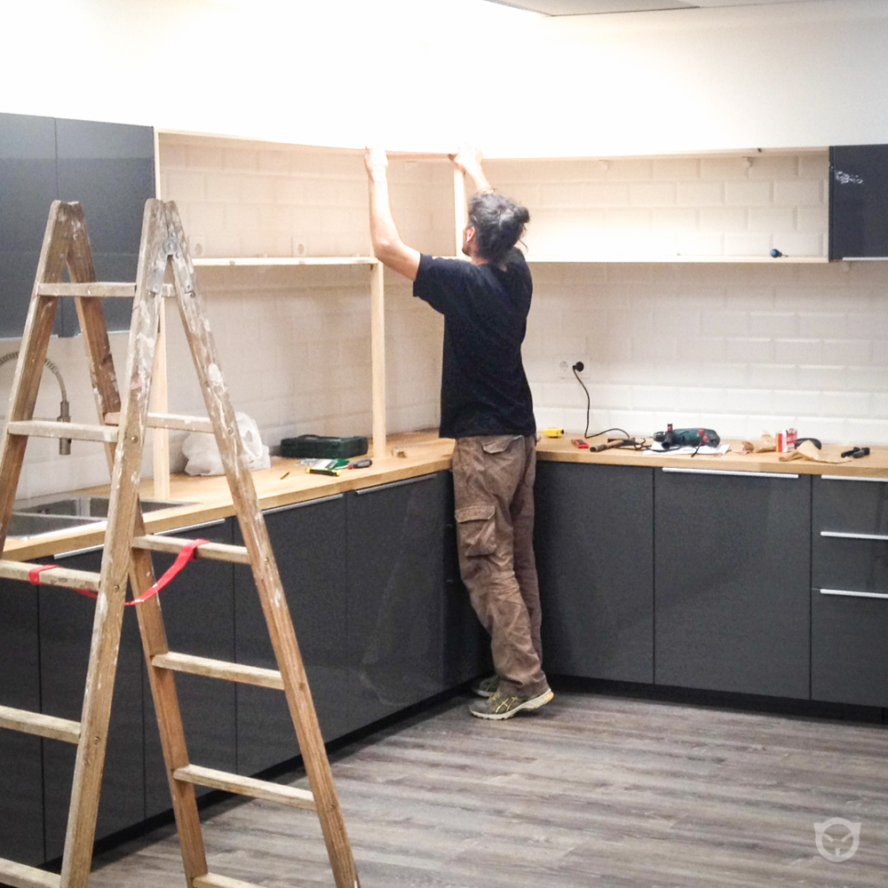 custom kitchen in production