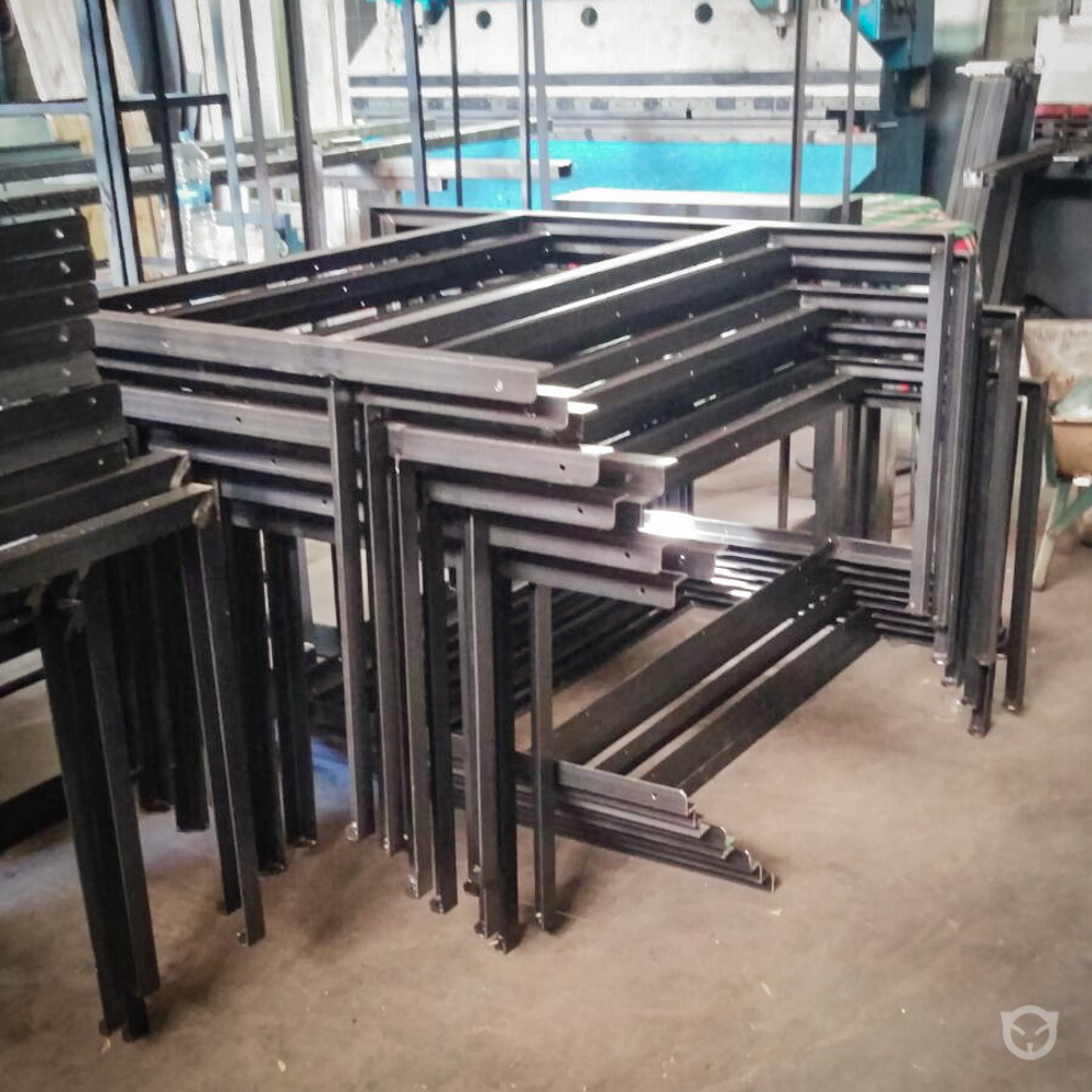 custom office table unit in production
