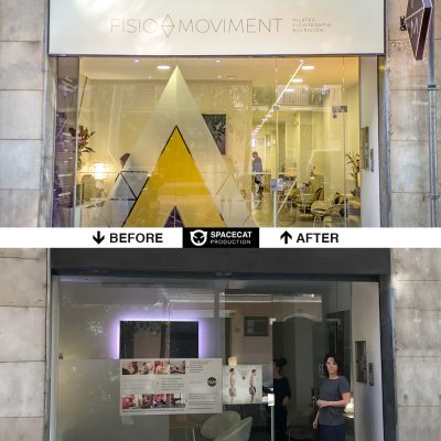 before and after shop window design