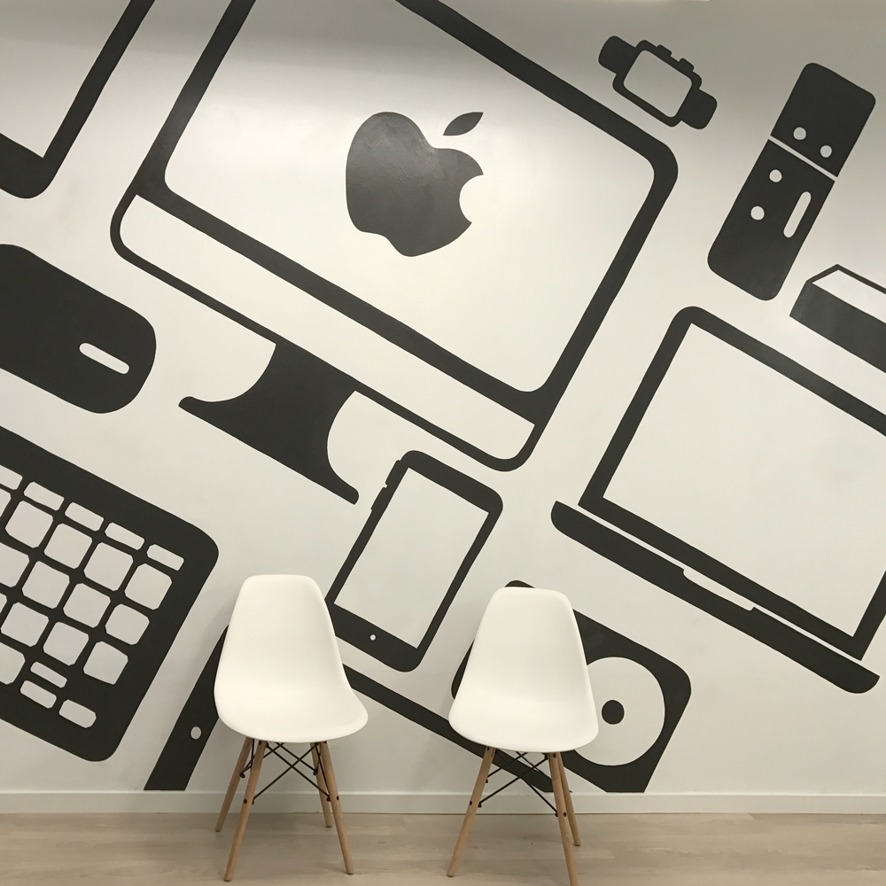 apple wall art painting